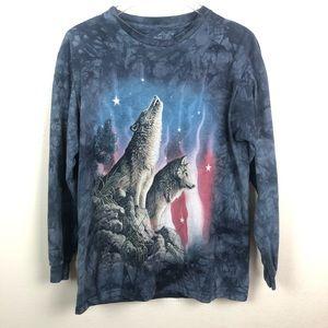 THE MOUNTAIN l Wolf Shirt, Size Medium